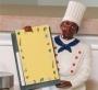 Black Chef Memo Holder