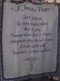 Wall Hanging/Coverlet A Nurses Prayer