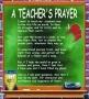 A Teacher's Prayer Wall Hanging/Coverlet